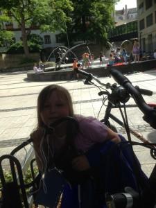 ein Fahrradständer